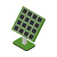 panneau solaire isométrique sur fond blanc vecteur