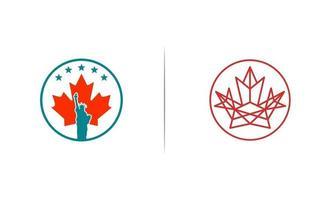 canada et états-unis d'Amérique consultant logo design illustration vectorielle vecteur