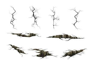 tremblement de terre brise vue en perspective vecteur