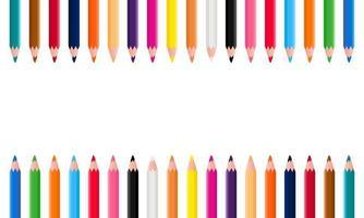 fond de crayons de couleur vecteur