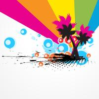Résumé d'arbre coloré de vecteur