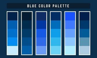 palette de couleurs vectorielles bleu vecteur