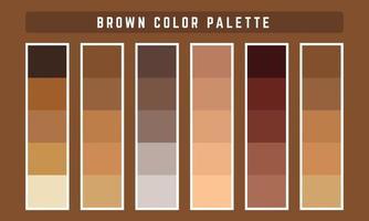 palette de couleurs vectorielles marron vecteur