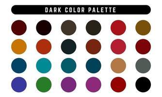 ensemble de palette de couleurs foncées vecteur
