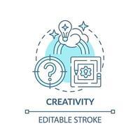 icône de concept de créativité bleu vecteur