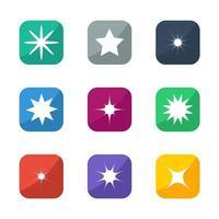 illustration de jeu d & # 39; icônes étoiles vecteur