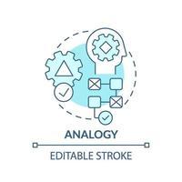 icône de concept bleu analogie vecteur