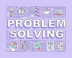Bannière de concepts de mot de résolution de problèmes vecteur
