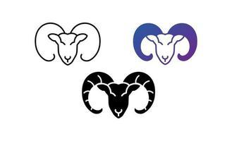 vecteur de conception de logo icône chèvre
