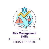 icône de concept de compétences de gestion des risques vecteur