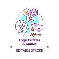 icône de concept puzzles et jeux de logique vecteur