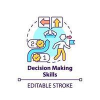 icône de concept de compétences de prise de décision vecteur