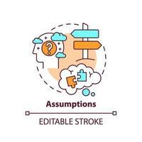 icône de concept d'hypothèses vecteur