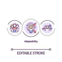 icône de concept d & # 39; adaptabilité vecteur
