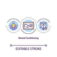 icône de concept de conditionnement mental vecteur