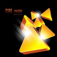 forme abstraite dorée vecteur