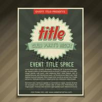 conception de flyer d'événement vecteur