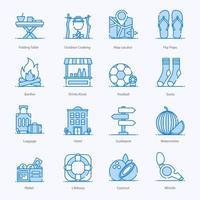 icônes de voyages et d & # 39; aventures vecteur