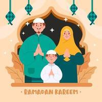 conception de ramadan kareem vecteur