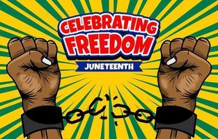 mains brisant la chaîne célébrant la liberté vecteur
