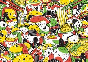 illustration vectorielle de nourriture japonaise vecteur