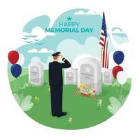 conception du jour commémoratif des États-Unis vecteur