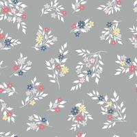 motif floral sans soudure. fond de jacinthe de fleurs vecteur