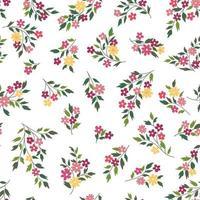 motif floral sans soudure. fond de fleur vecteur