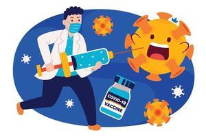 campagne de vaccination dans un style design plat. vecteur