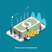 retour sur investissement vecteur