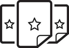 icône de ligne pour en vedette vecteur