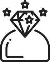 icône de ligne pour brillant vecteur