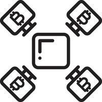 icône de la ligne pour l & # 39; exploitation minière vecteur