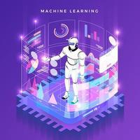 technologie d'apprentissage automatique vecteur