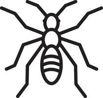 icône de ligne pour fourmi vecteur