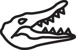 icône de ligne pour crocodile vecteur