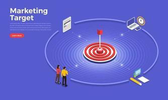 concept de cible marketing vecteur