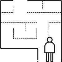 icône de la ligne pour le plan d & # 39; évacuation vecteur