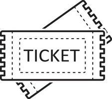 icône de ligne pour les billets vecteur