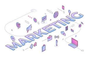 marketing de mot d'affaires vecteur
