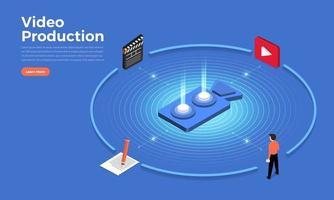 production vidéo illustrer vecteur