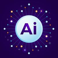intelligence artificielle IA vecteur
