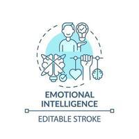 icône de concept turquoise intelligence émotionnelle vecteur