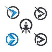 images de logo de flèche vecteur