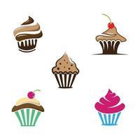 illustration des images du logo cupcake vecteur