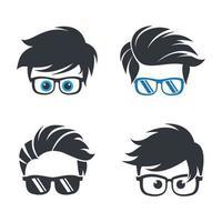 images de logo geek vecteur