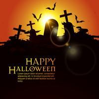 fond d'halloween effrayant vecteur