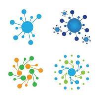 création de logo de molécule vecteur