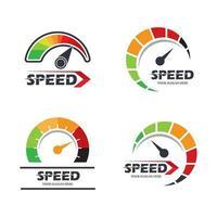 illustration d'images de logo de vitesse vecteur