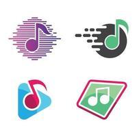 images de logo de musique vecteur